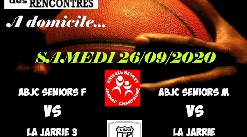 Les matchs du week-end – Basket (ABJC)